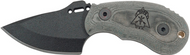 "TOPS Wolf Pup Hunter WP010 Fixed Blade Knife, Black 2.5"" Plain Edge Blade, Sheath"