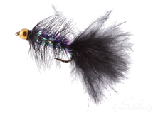 Krystal Flash Bugger, Bead Head, Black/Purple Body