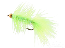 Krystal Flash Bugger, Bead Head, Chartreuse