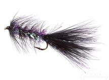 Krystal Flash Bugger, Black/Purple Body