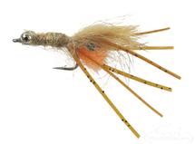 Orange Bearded Mantis Shrimp Tan Beadchain