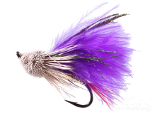 Muddler Minnow, Marabou, Purple, Salmon Hook