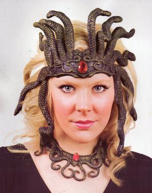 Latex Snakeskin Medusa Headdress and Necklace