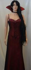 Blood Red Bodice Vampire Vampiress Costume