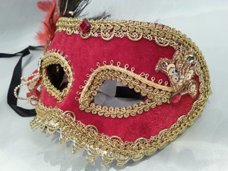 Red and Gold Masquerade Mask