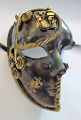Steampunk Three Quarter Mask