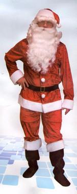 Velvet Santa Costume - Father Christmas Dress Up