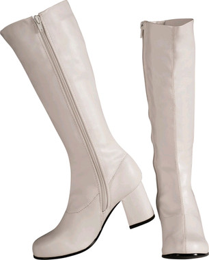 white Go Go Boots 1960's and 1970's