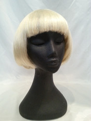 Blonde bobbed wig