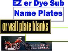 "EZ er Name Plate Blanks for Dye Sublimation 2"" X 8"""