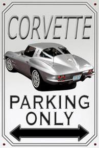 Corvette Parking Sign -Photo Realistic