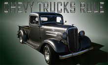 Chevy Trucks Rule Tool Box or Equipment Panel