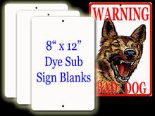 "Aluminum Sublimation Sign Blanks 8"" x 12"""