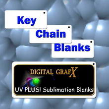 "50 ea Key Chain Blanks for Sublimation 1.5""x3"""