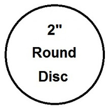 "2"" Round Aluminum Dye Sublimation Insert- Lot of 50"