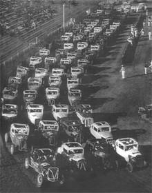 1954 Stock Car Race on High Gloss Aluminum Panel