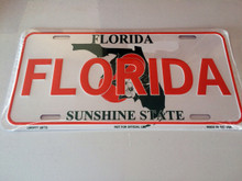 "High Gloss Embossed Aluminum  License Plate Prints FL "" FLORIDA "" LOT of 100PCS"