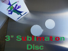 """3"""" Blank Aluminum Sublimation Discs with 1/8"""" Hole for Hanging - Lot of 25PCs"""