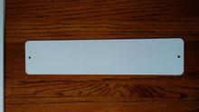 "4"" x 18"" Dye Sub Aluminum Street Sign Blanks with Holes"