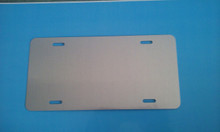 CLEAR Gloss Brushed Aluminum Dye Sublimation Auto License Plate Blanks