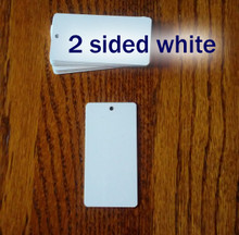 Two Sided Gloss White Aluminum Dye Sublimation Key Chain Blanks - Lot of 50PCs