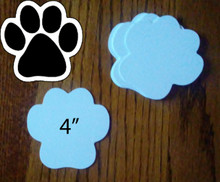 "DOG PAW - 2 Sided White 4"" Gloss Aluminum Dye Sublimation Blanks"