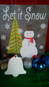 Christmas Bell Ornaments TWO SIDED WHITE Aluminum Dye Sublimation Blanks $0.85ea