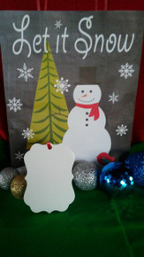 Christmas Benelux Ornaments TWO SIDED WHITE Aluminum Sublimation Blanks $0.85ea