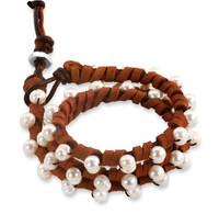 Olivia:  Freshwater Pearl Wrap Bracelet