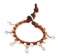 Sofia:  Freshwater Pearls + Swarovski Crystals Bracelet