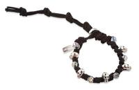 Dante:  Skull Bracelet + Swarovski Crystals