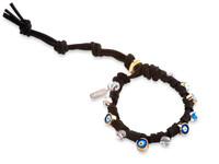 Talia:  Swarovski Crystals + Evil Eye Bracelet