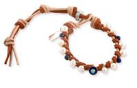 Celeste:  Evil Eye + Lapis + Freshwater Pearl Bracelet