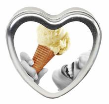 CANDLE 3 N 1 HEART EDIBLE VANILLA 4.7 OZ