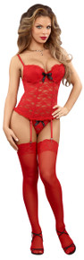 BUSTIER & G-STRING RED QUEEN (LUV LACE)