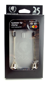 ADJUSTABLE TWEEZER CLAMP W/NICKEL BELL