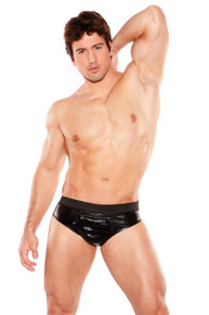 ZEUS WET LOOK BRIEF O/S (MENS)