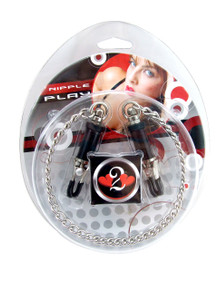 H2H NIPPLE CLAMPS BARREL W/CHAIN CHROME