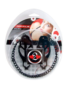 H2H NIPPLE CLAMPS JAWS W/ CHAIN BLACK