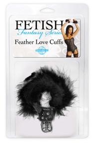 FETISH FANTASTY FEATHER LOVE CUFFS BLACK