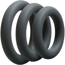 OPTIMALE 3 C-RING SET THICK SLATE