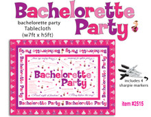 BACHELORETTE PARTY TABLECLOTH TRIVIA