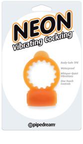 NEON VIBRATING COCKRING ORANGE