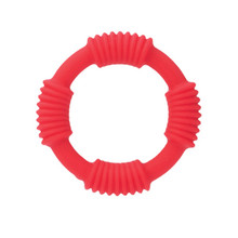 ADONIS SILICONE RING RED