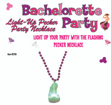 LIGHT UP PECKER PARTY NECKLACE