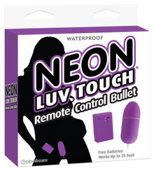 NEON LUV TOUCH REMOTE CONTROL BULLET PURPLE