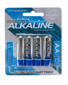 DOC JOHNSON AA BATTERIES 4 PACK AKALINE CD