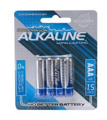 DOC JOHNSON AAA BATTERIES 4 PACK AKALINE CD