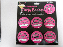 BACHELORETTE BADGES SET OF 7