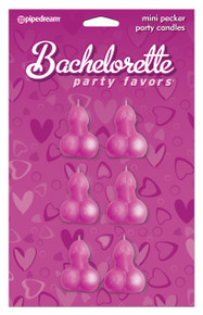 BACHELORETTE MINI PECKER PARTY CANDLES[6PC]